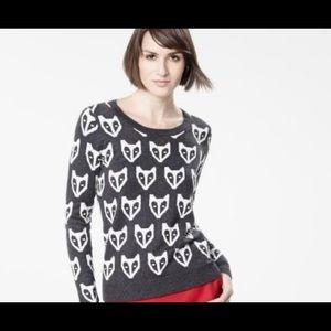 RW & Co | Crew Neck | Fox Sweater | Size M | Grey